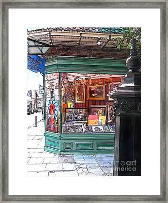 French Quarter Art Gallery Framed Print by John Boles