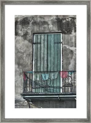 French Quarter Balcony Framed Print by Brenda Bryant