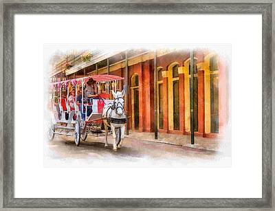 French Quarter Carriage Ride 3 Framed Print by Steve Harrington