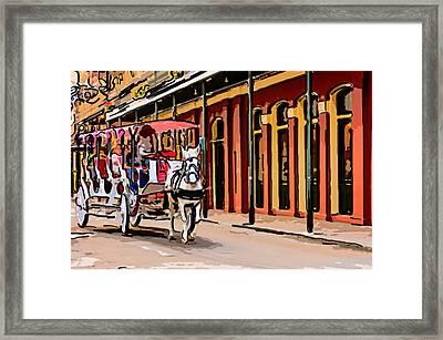 French Quarter Carriage Ride 4 Framed Print by Steve Harrington