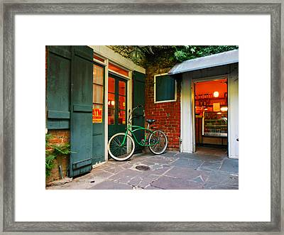 French Quarter Coffee Framed Print by Sherry Dooley