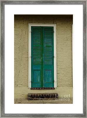 French Quarter Door - 15 Framed Print by Susie Hoffpauir