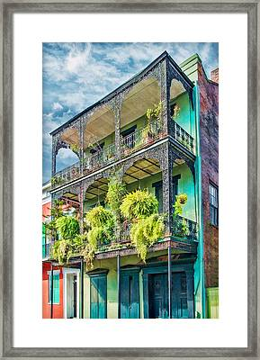 French Quarter Ferns Framed Print by Brenda Bryant