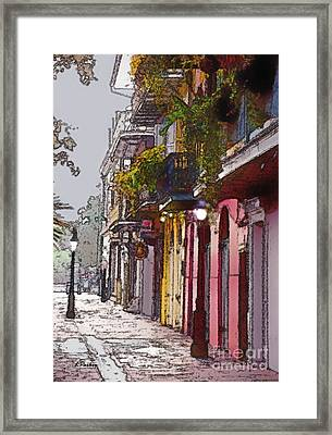 French Quarter New Orleans Framed Print by Linda  Parker