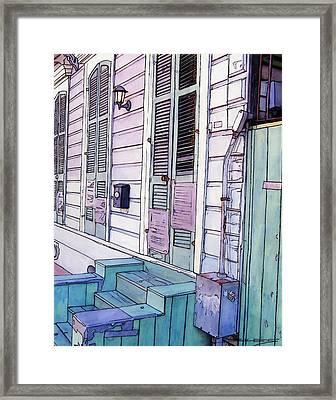 French Quarter Stoop 213 Framed Print by John Boles