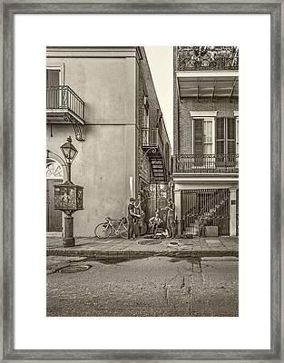 French Quarter Trio Sepia Framed Print by Steve Harrington