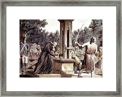 French Revolution Beheadings Framed Print by Cci Archives