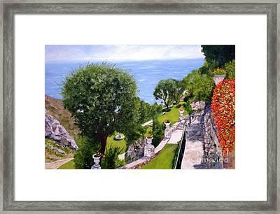 French Riviera Framed Print by Graciela Castro