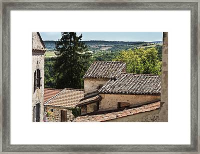 French Roofs Framed Print by Georgia Fowler