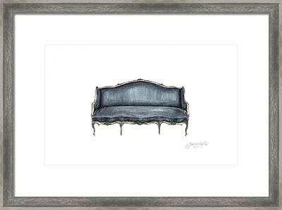 French Settee  Framed Print by Jazmin Angeles