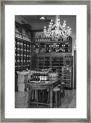 French Style Wine Store Framed Print by Georgia Fowler