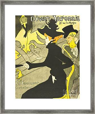 French Theater Club Ad 1892 Framed Print by Padre Art