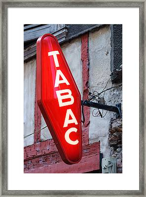 French Tobacconist Sign Framed Print by Dutourdumonde Photography
