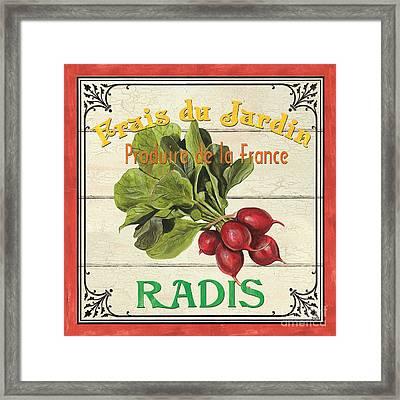 French Vegetable Sign 1 Framed Print by Debbie DeWitt