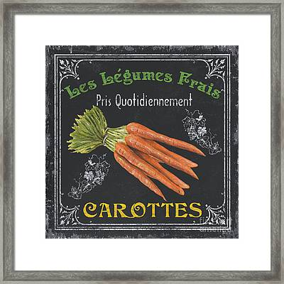 French Vegetables 4 Framed Print by Debbie DeWitt