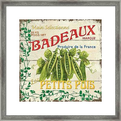 French Veggie Sign 1 Framed Print by Debbie DeWitt