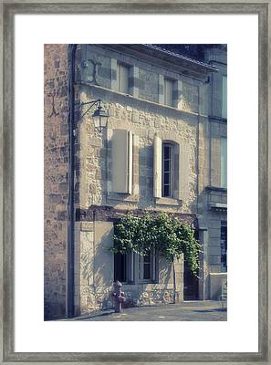 French Village House Framed Print by Georgia Fowler