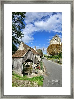 French Village Road Framed Print by Olivier Le Queinec