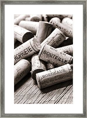 French Wine Corks Framed Print by Olivier Le Queinec