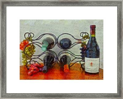 French Wine Rack Framed Print by Dan Sproul