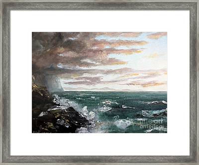 Frenchman's Bay Framed Print by Lee Piper