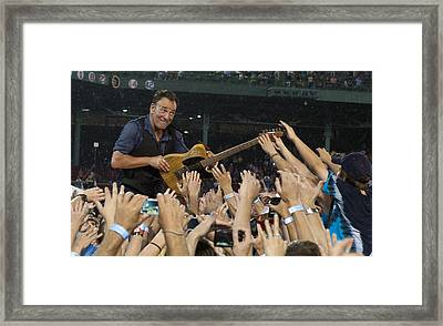 Frenzy At Fenway Framed Print by Jeff Ross