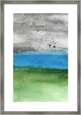 Fresh Air- Landscape Painting Framed Print by Linda Woods