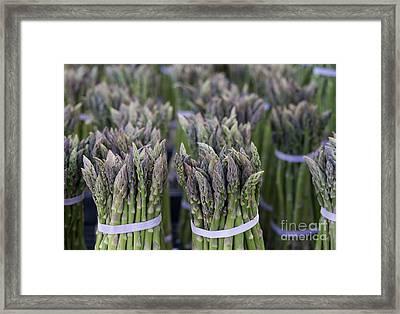 Fresh Asparagus Framed Print by Mike  Dawson