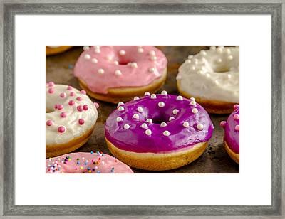 Fresh Baked Vanilla Bean Donuts Framed Print by Teri Virbickis