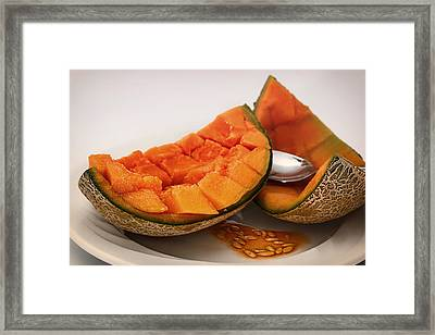 Fresh Cantaloupe Framed Print by Mountain Dreams