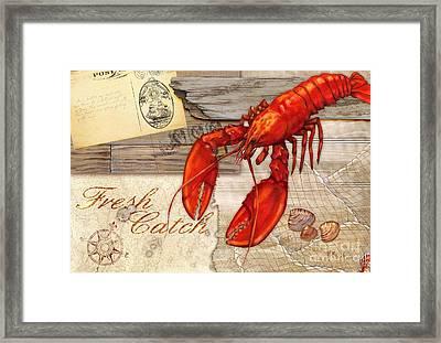 Fresh Catch Lobster Framed Print by Paul Brent