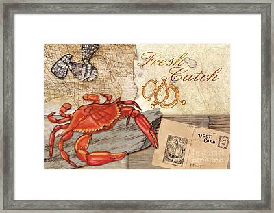 Fresh Catch Red Crab Framed Print by Paul Brent