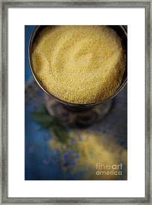 Fresh Corn Meal Framed Print by Mythja  Photography