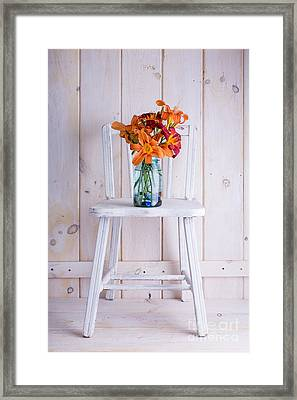 Fresh Day Lilly Flowers  Framed Print by Edward Fielding