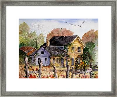 Fresh Eggs For Sale Framed Print by Marilyn Smith