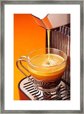 Fresh Espresso Framed Print by Carlos Caetano