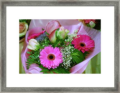 Fresh Flowers For Sale In The Old Town Framed Print by Dave Bartruff