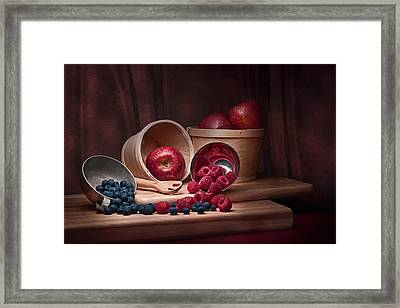 Fresh Fruits Still Life Framed Print by Tom Mc Nemar