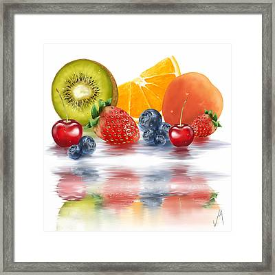 Fresh Fruits Framed Print by Veronica Minozzi