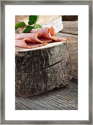 Fresh Ham Framed Print by Mythja  Photography