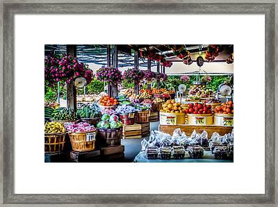 Fresh Market Framed Print by Karen Wiles