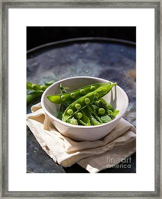 Fresh Peapods Framed Print by Edward Fielding