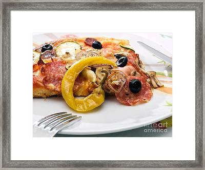 Fresh Pizza Framed Print by Sinisa Botas