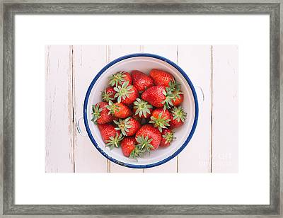 Fresh Strawberries  Framed Print by Viktor Pravdica