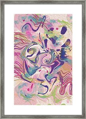 Fresh Water Jelly Fish Framed Print by Tiffany Selig