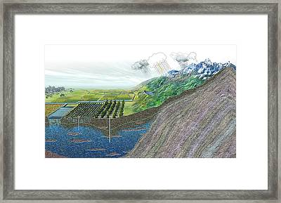 Fresh Water Sources Framed Print by Nicolle R. Fuller
