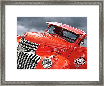 Freshly Squeezed - 1945 Orange Chevy  Framed Print by Gill Billington