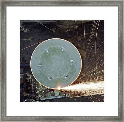 Friction Ignition Test Facility Framed Print by Crown Copyright/health & Safety Laboratory Science Photo Library