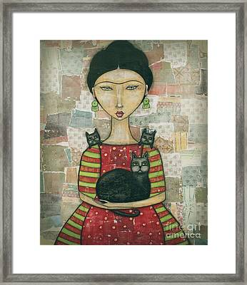 Frida And Friends Framed Print by Natalie Briney