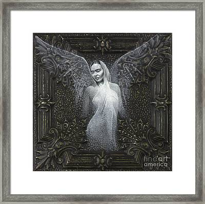 Frida Guardian Of The Arts Framed Print by Lorena Rivera